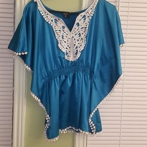 Silky Turquoise dress top